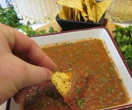 Over 28 oz of fantastic salsa for about $2.99 in 5 minutes