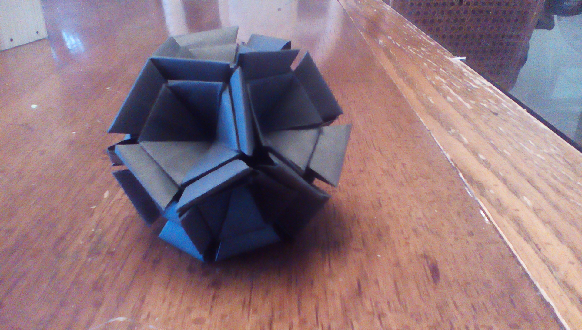 Picture of 90 Module Origami Dodecahedron