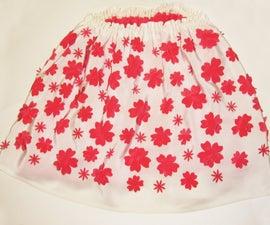 Laser Cutting: Cherry Blossom Shaped Pattern skirt