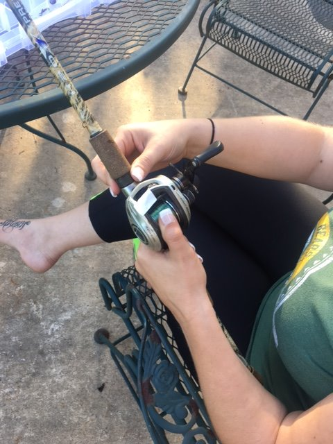Picture of Attach Your Reel to the Pole