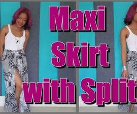 Maxi Skirt with Split