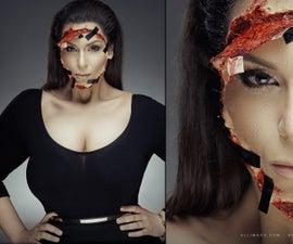 Kim Kardashian Taped on Face - SFX Makeup Tutorial
