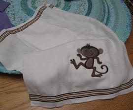 making a 'burp' cloth
