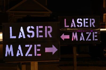The LASER Maze in Action - Photos