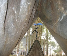 the hammock hut: a easy to make hammock rain-fly