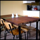 Dining Table Made from a Reclaimed Door