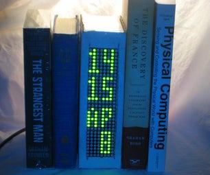 BookClock - Arduino-based Clock in a Cardboard Box