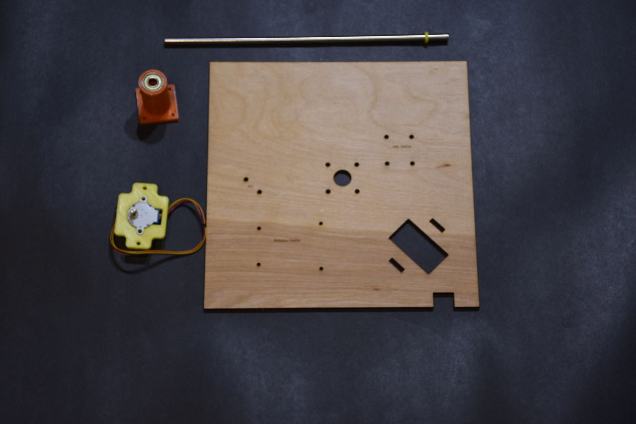 Picture of Assemble the Middle Plate and Wire the Clock
