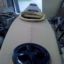 Hatches for a skin on frame kayak