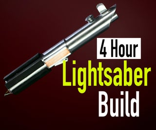 """Make a """"Metal"""" Lightsaber From Plastic and Tape!"""
