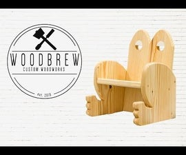 DIY Kids Frog Chair! Simple Woodworking Project