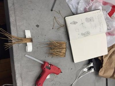 Glue the Pine Needles Into Strips