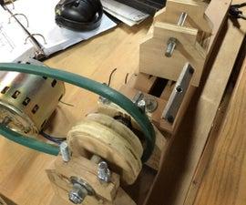 Mini Wood Lathe using scrap wood