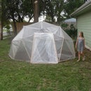 A FAILED!!! Recycled Geodesic dome greenhouse