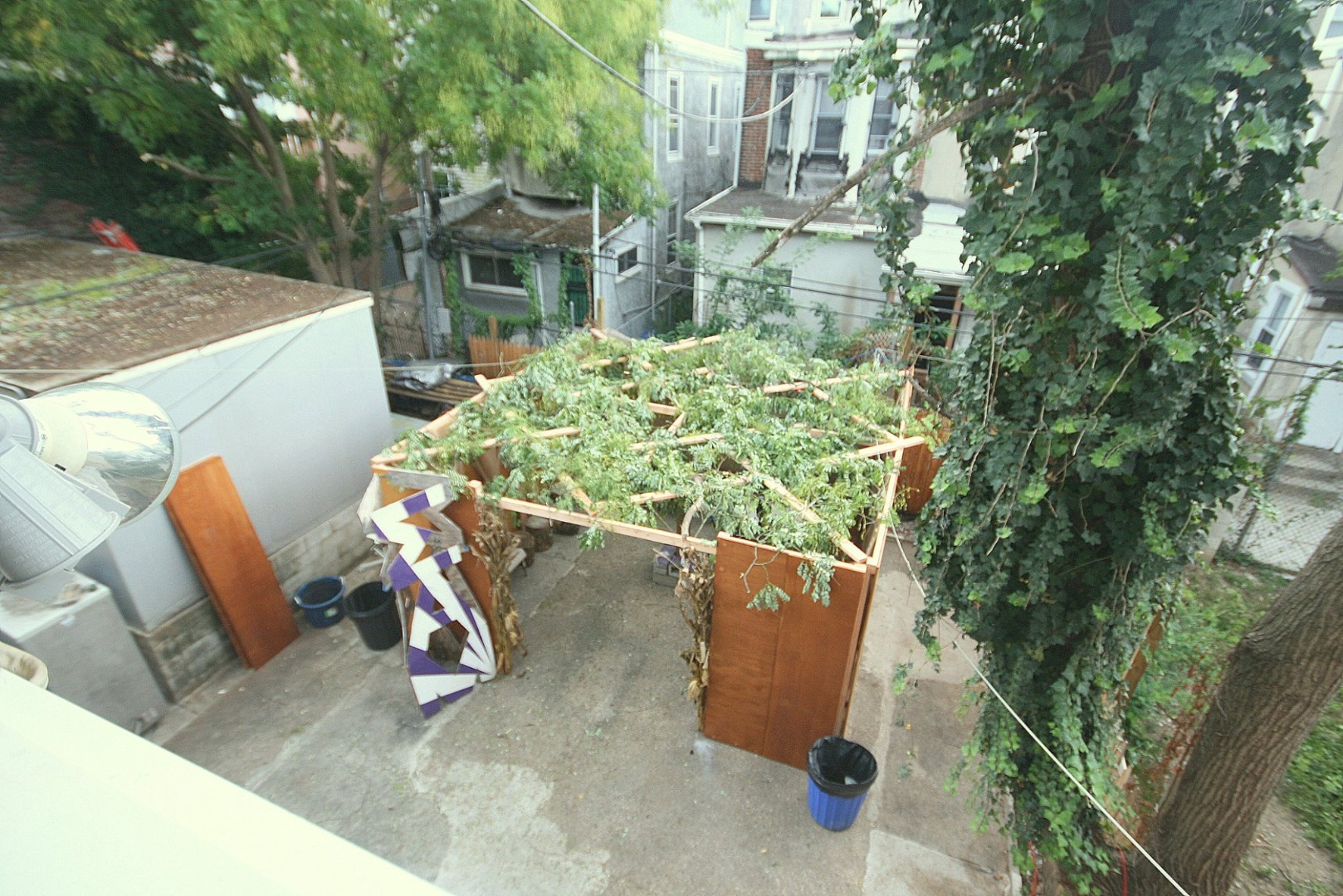 Picture of Succah, a Temporary Shelter Covered in Natural Materials, Built Near a Synagogue or House and Used Especially for Meals During the Jewish Festival of Succoth.