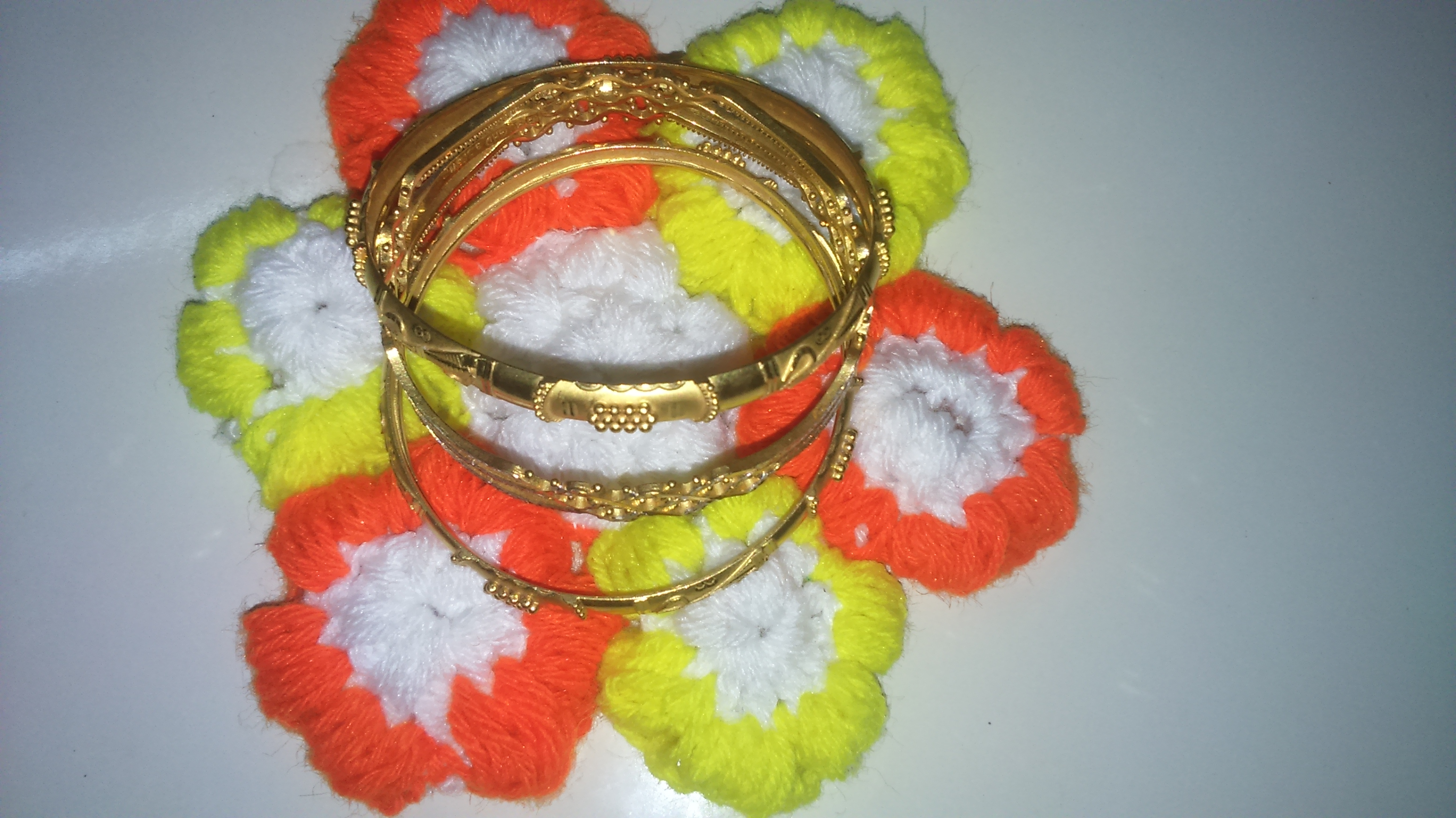 Picture of Uses of Puff Stitch Crochet Flower