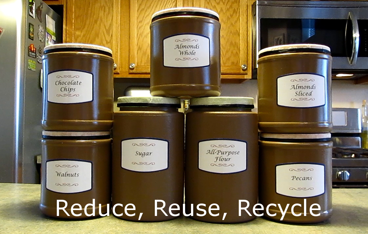 Picture of Repurposing Containers for Pantry Storage