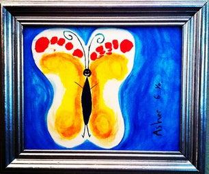 Butterfly Kids Foot-Print! Wonderful Gift!