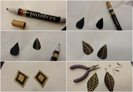 Making of Leather Earrings