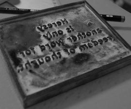 DIY Letterpress - Adana3D
