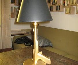 Gold Zapper Lamp (Akin to Philippe Starcks Lamps)