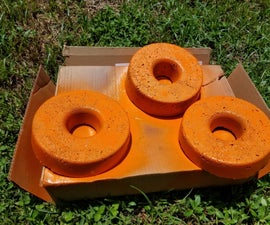Simple Oversize Concrete Donut Sprinkler Protector