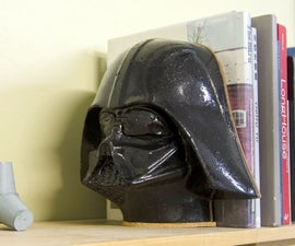 Concrete Vader Mask Book End (no spoilers)