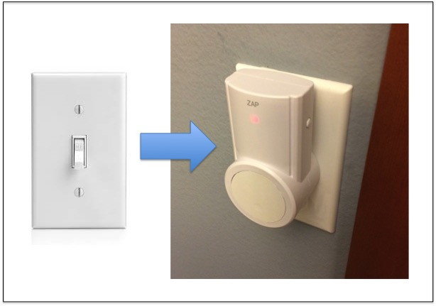 Picture of RF Outlet to Light Switch Hack