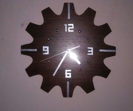 Modern clock with gear look