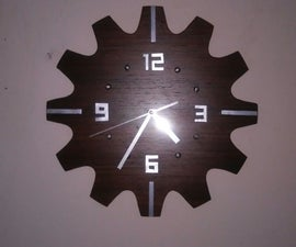Modern clock with gear look