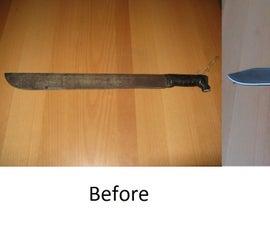 Cleaning and Refurbishing a Machete