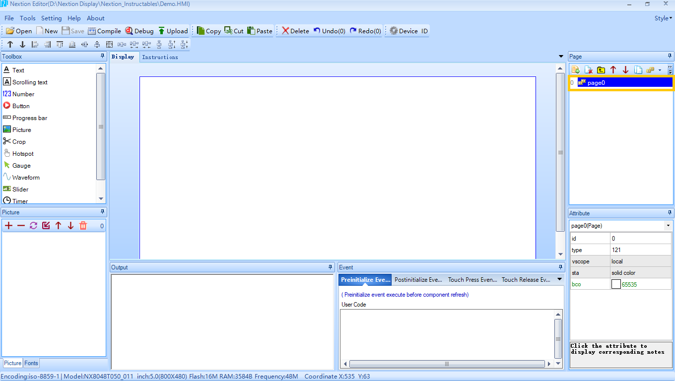 Picture of Nextion Editor