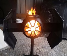 tie fighter wood burner