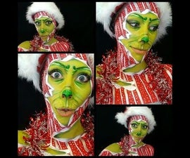 Unwrapping the Grinch! Body Paint