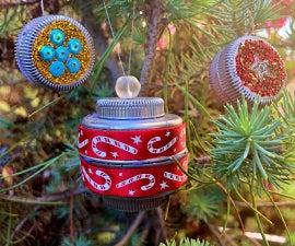 Plastic Bottle Cap Ornaments