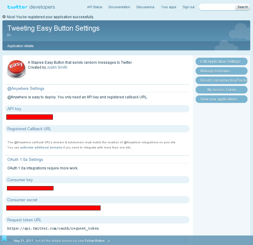 Picture of Create a New Twitter Application