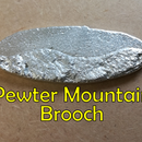 Pewter Mountain Brooch