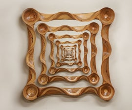 Pallet Wood Power Carved Picture Frame