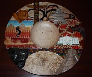 Wood Carving - North America Platter