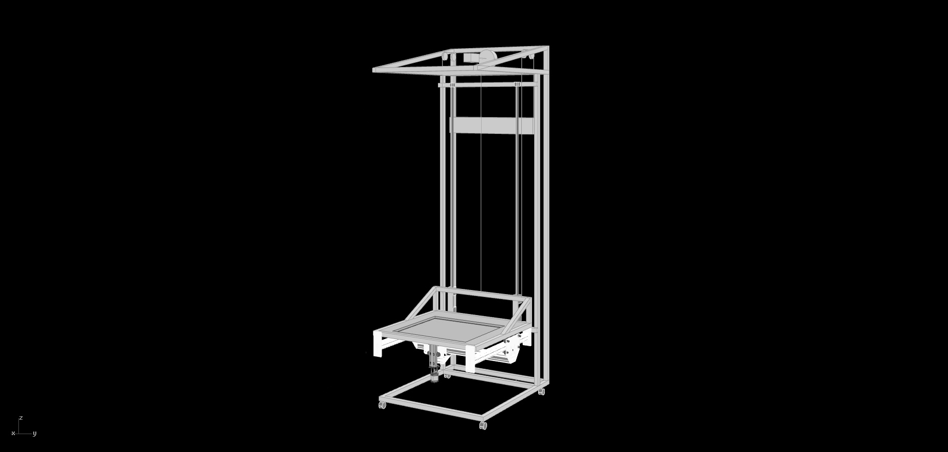 Picture of Machine: the Frame and Build Plate