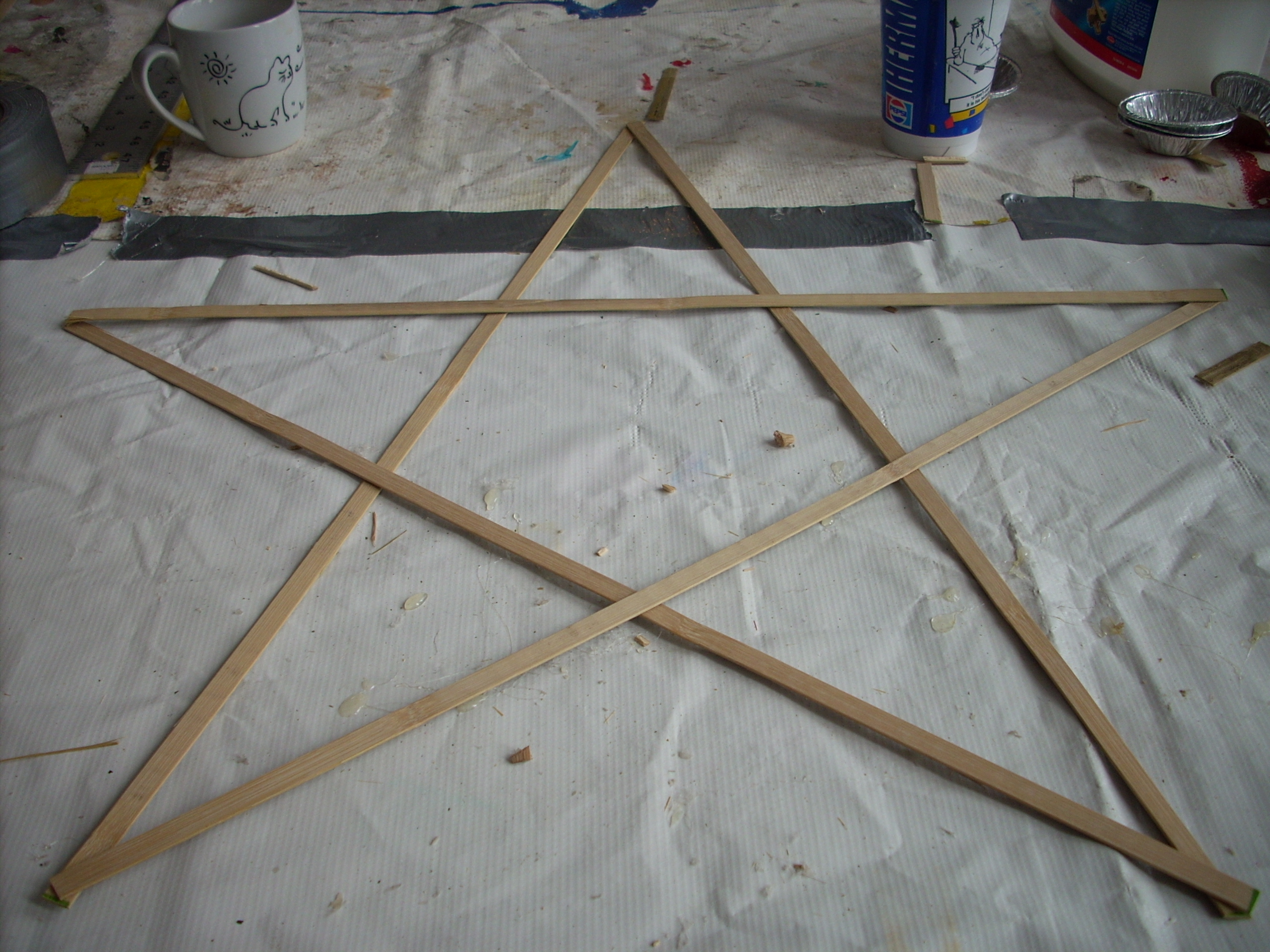 Picture of Arranging the Pieces Into a Star