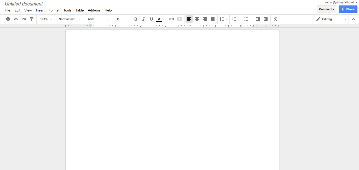 Picture of Using Google Docs