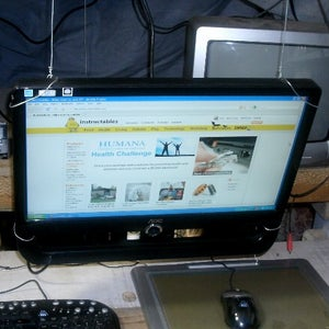 Hanging Monitor -- No Table Needed!
