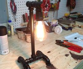 Steam Punk Pipe Lamp