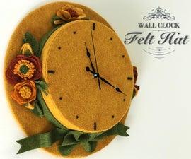 Felt Hat Clock