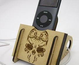 Laser Cut iPod Dock