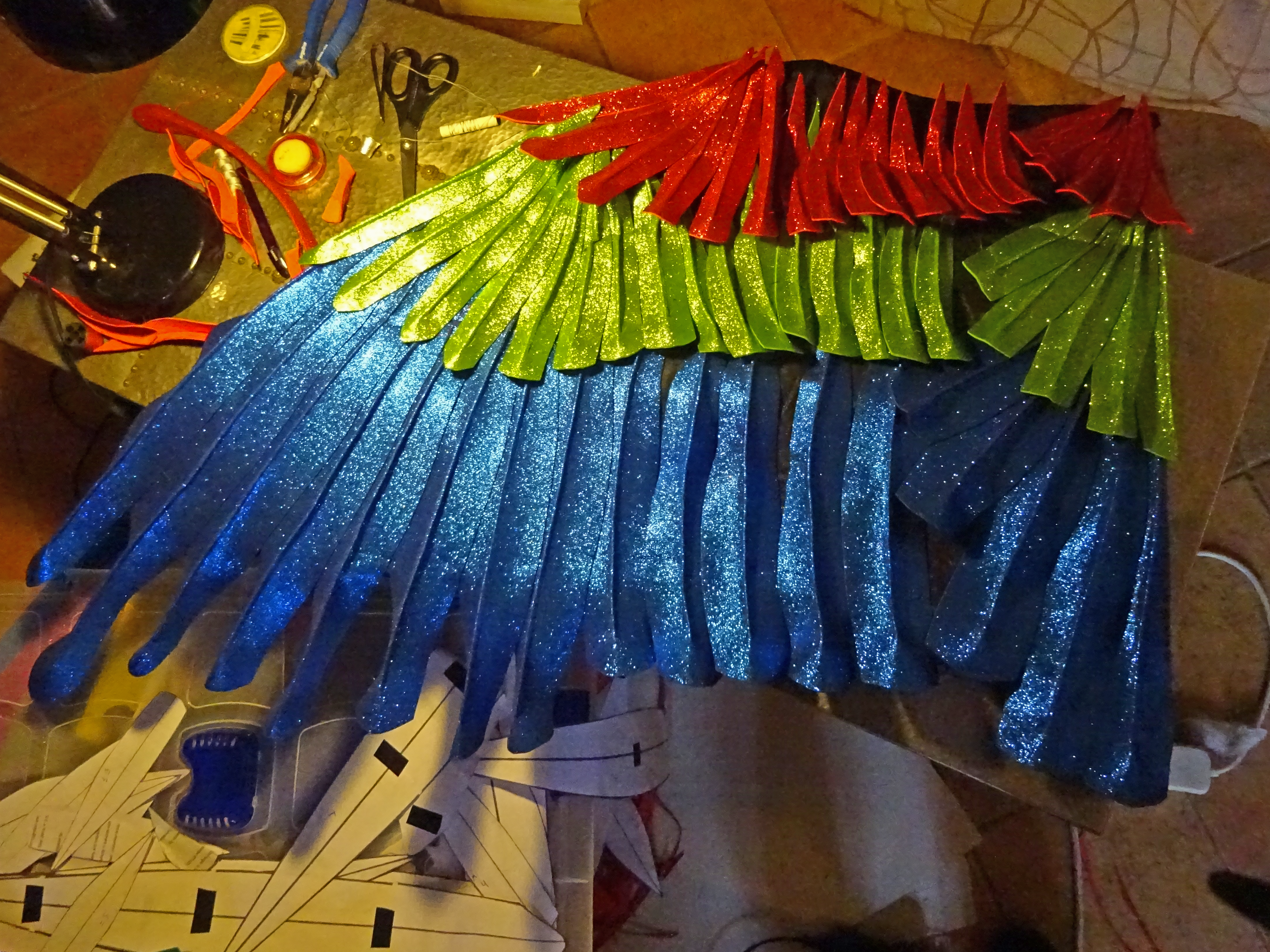 Picture of Hand-stitch Feathers in Place