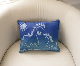 Printed Dry-Erase-Doodle Pillow