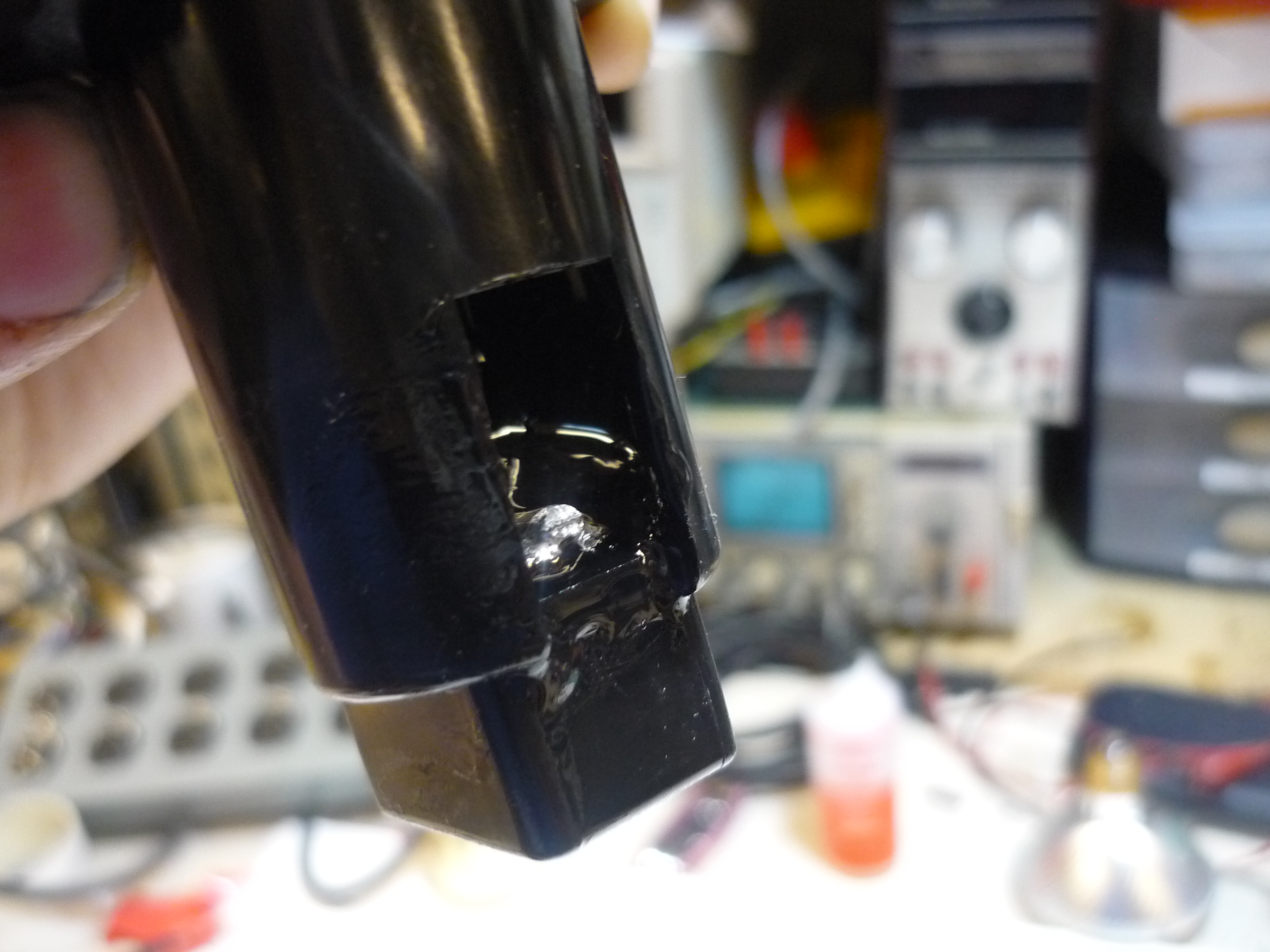 Picture of Wiring Up Drill Connector and Epoxy It to the Connector Housing