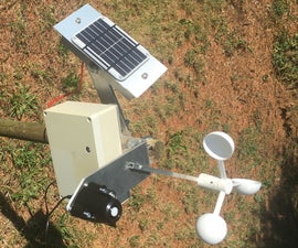 Wind Speed and Solar Radiation Recorder